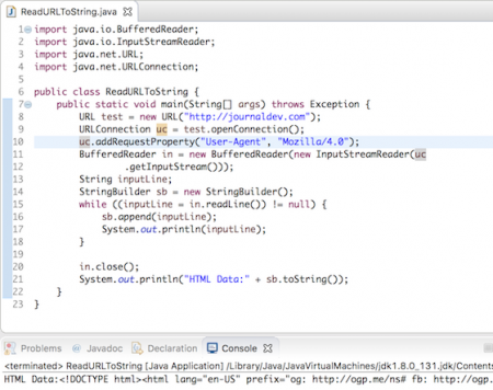 java read url content to string
