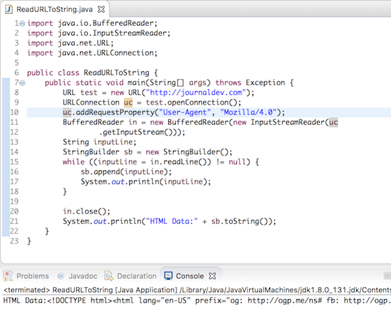 java read url to string