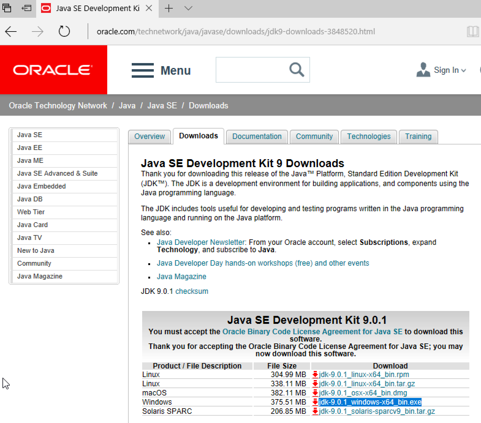 oracle java 8 64 bit download windows 7