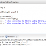 Java char to String, String to char array
