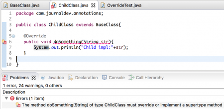 java @Override annotation, Overriding in java