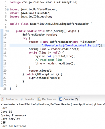 java read file line by line