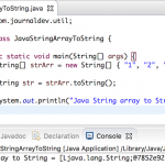 Java String Array to String
