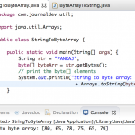String to byte array, byte array to String in Java