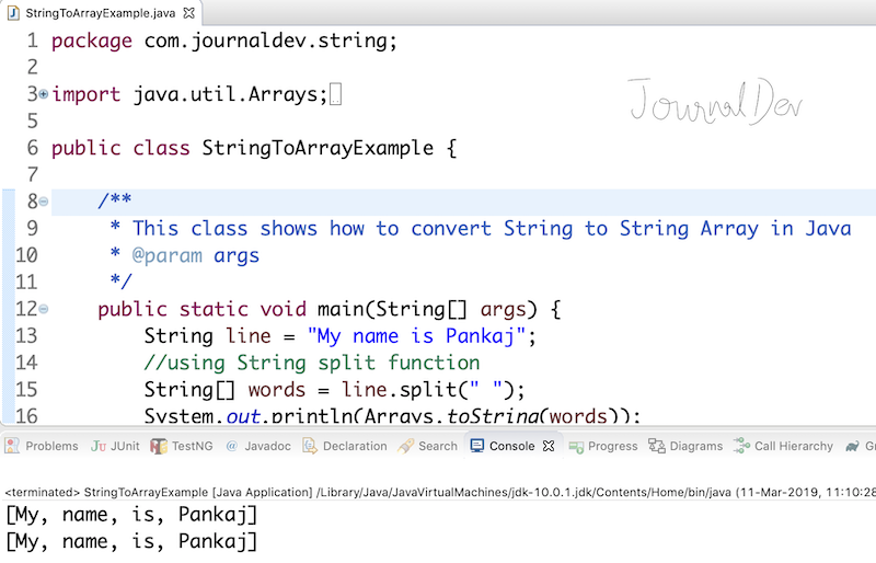 String To Array Java