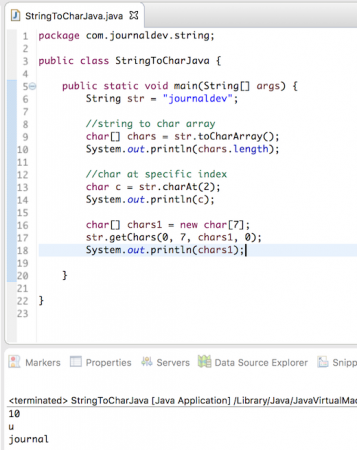 string to char java, string to char array