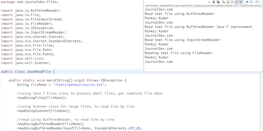 Java IO – Read and write text files