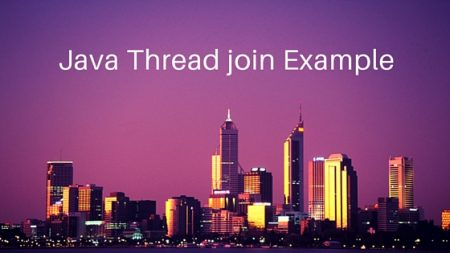 java thread join, thread join example