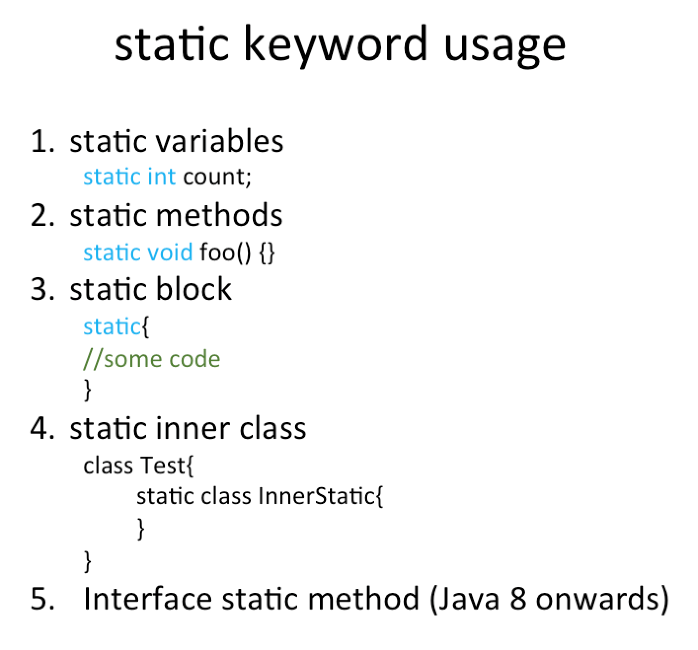 A guide to the static keyword in java | baeldung.