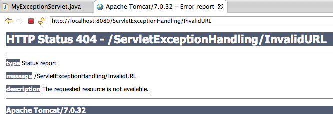 Servlet Exception and Error Handling Example Tutorial