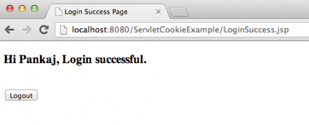 Java Servlet Session Management using Cookies