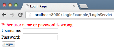 servlet-login-failure