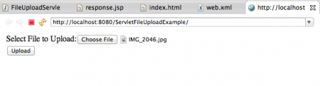 Servlet 3 File Upload HTML