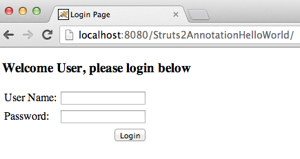 Struts-Hello-World-Annotation-login