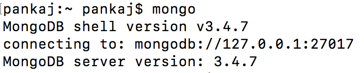 install mongodb on mac