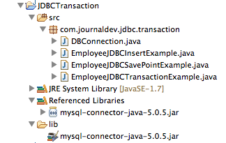 JDBC-Transaction-Management-Savepoint-Project