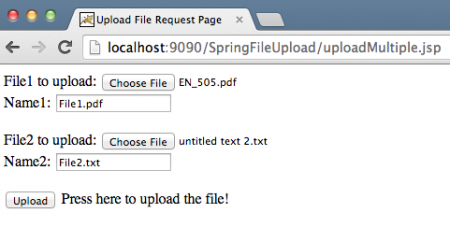 Spring MVC Multiple File Upload Example