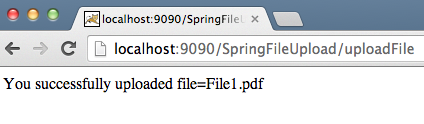 Spring MVC Single File Upload Response
