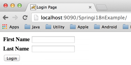 Spring localization, spring resource bundle, spring i18n example