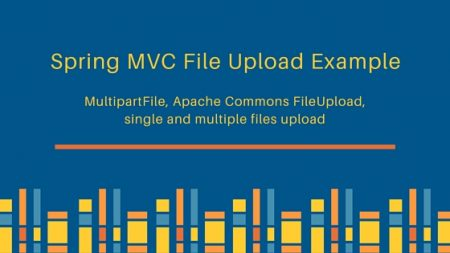 spring mvc file upload example, MultipartFile, CommonsMultipartResolver, single and multiple files