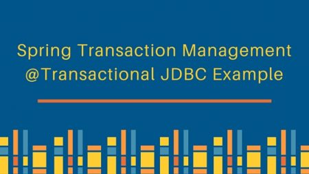 spring transaction management, spring @Transactional, Spring JDBCTemplate, spring transaction