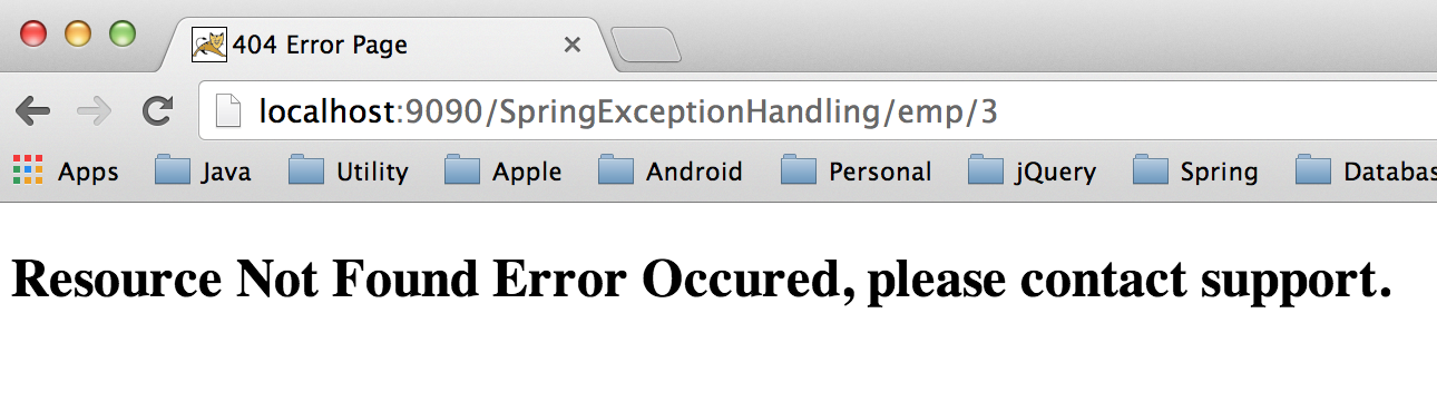 Spring MVC Exception Handling - @ControllerAdvice, @ExceptionHandler