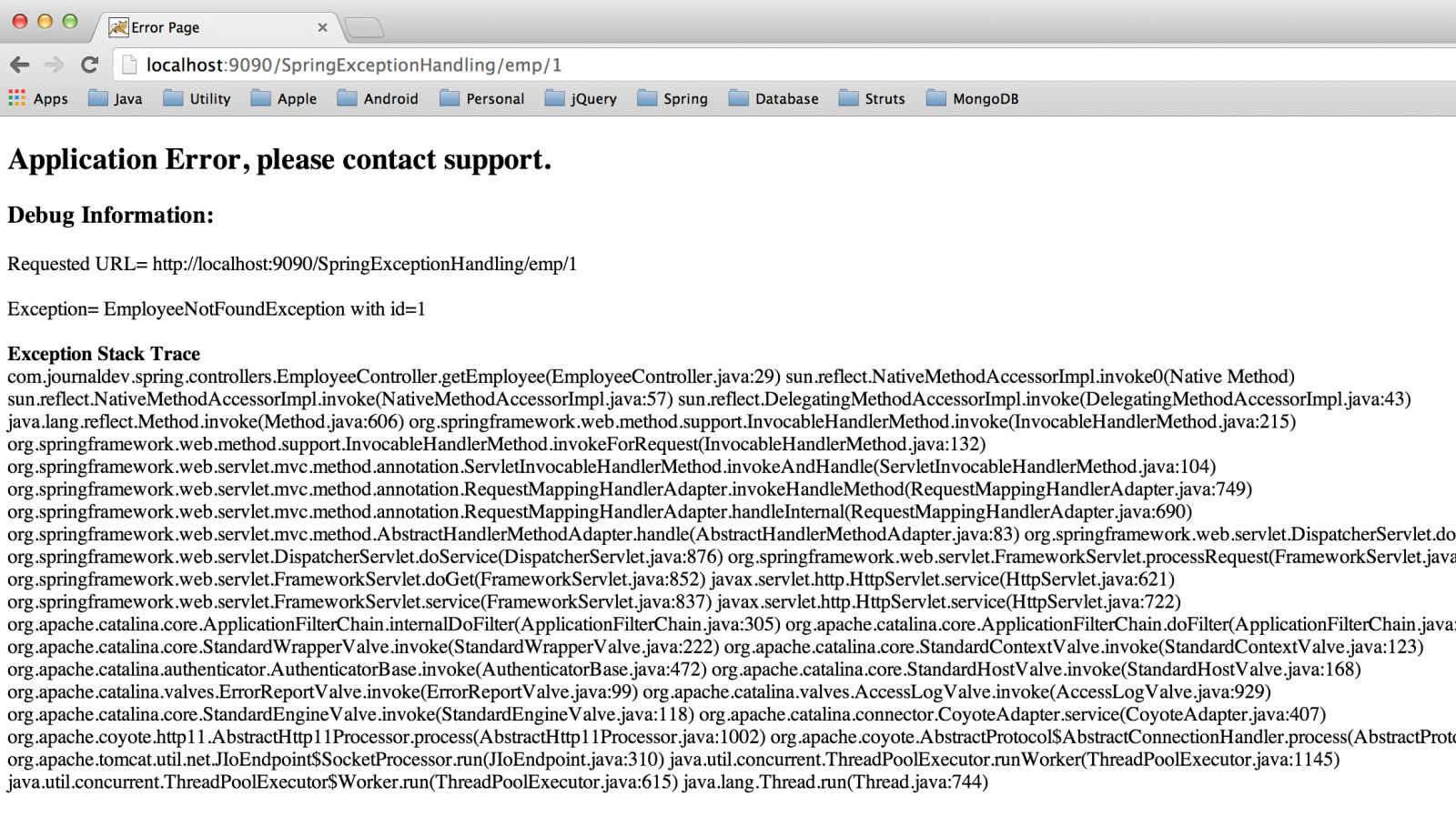 Spring MVC Exception Handling - @ControllerAdvice