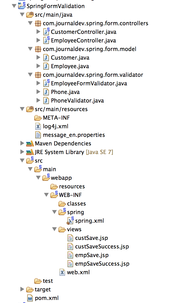 Spring Validation Example - Spring MVC Form Validator - JournalDev