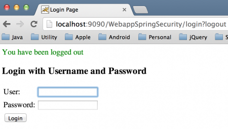 Spring Security Form Logout