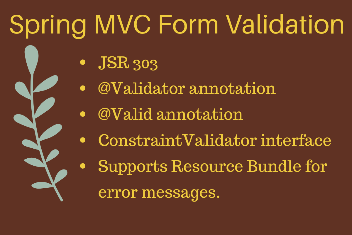 Spring Mvc Form Validation