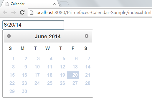 Primefaces Calendar - Advanced Customization - Disabled All Dates