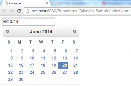 Calendar - Default View