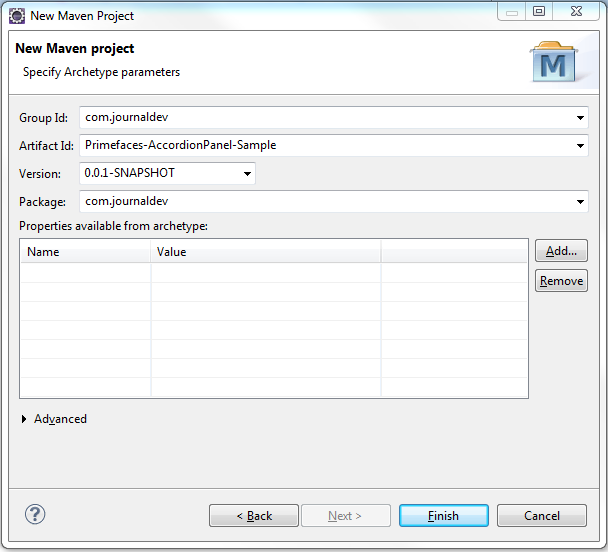 Create Project Using Maven - Eclipse IDE