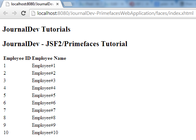 JSF PrimeFaces Tutorial - JournalDev