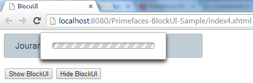 Primefaces BlockUI - Blocking Panel