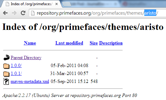 Primefaces Themes - Primefaces Aristo Theme