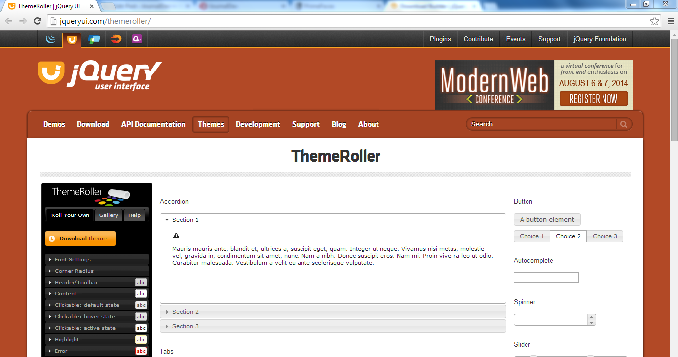 Primefaces Theme - ThemeRoller Site