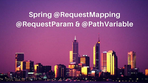 Spring @RequestMapping @RequestParam and @PathVariable example