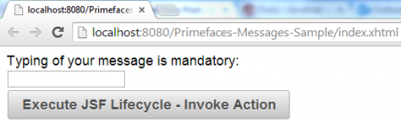 Message - Validation Error - Initial View
