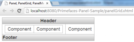 PanelGrid - Simple Example - Header And Footer