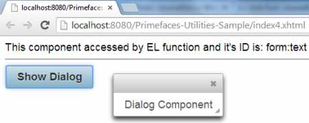 Primefaces Utilities - EL Function - Get Components Using EL Functions Component and WidgetVar