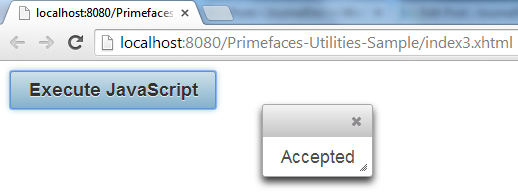 Primefaces Utilities - Execute JavaScript Conditionally - I