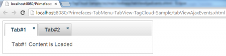 TabView - Ajax Event - Initial View