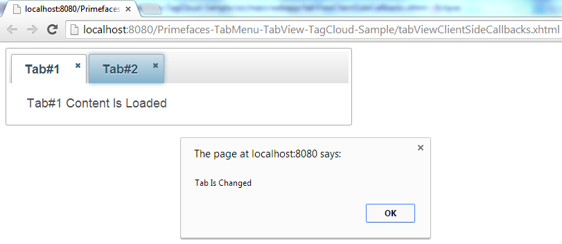 Primefaces TabView - Client Side Callbacks - OnChange
