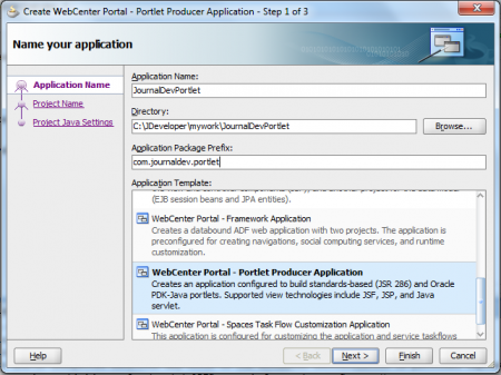 Create JSR286 Application