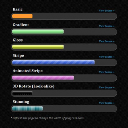 HTML5 Progress Bar Example