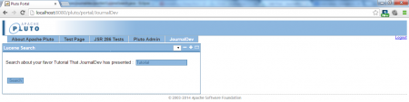 Lucene Search - Initial View - User Fill in Query