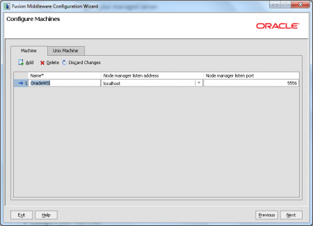 Oracle JDeveloper - Configure Machines