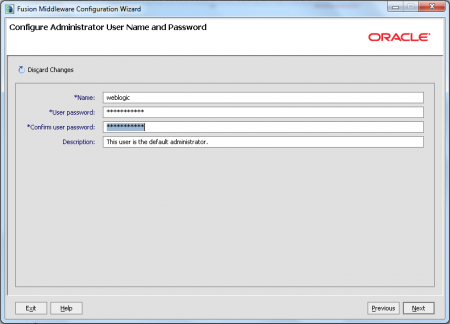 Oracle JDeveloper - Set Username And Password