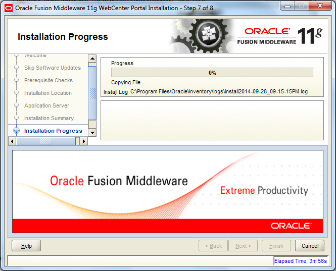 Oracle Webcenter Wizard - Step 7